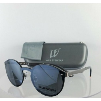 Brand New Authentic Web Sunglasses WE 0203 Col. 09C Silver 134mm Frame 203