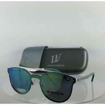 Brand New Authentic Web Sunglasses WE 0190 Col. 09Q Silver 137mm Frame 190