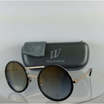 Brand New Authentic Web Sunglasses WE 200 Col. 01G Black Gold 52mm Frame 0200