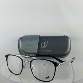 Brand New Authentic Web Eyeglasses WE 5241 Col. 016 Black Silver 49mm