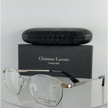 Brand New Authentic Christian Lacroix Eyeglasses Cl 4006 Silver Frame