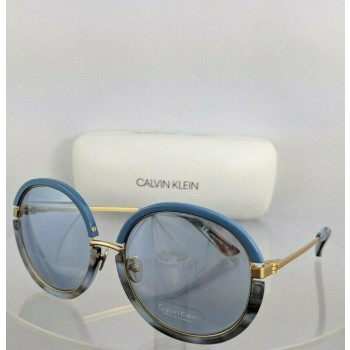Calvin Klein CK 8056S 434 Blue & Gold Sunglasses