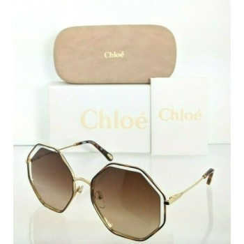 Brand New Authentic Chloe Sunglasses CE 132S 213 58mm Brown Gold 132 Frame