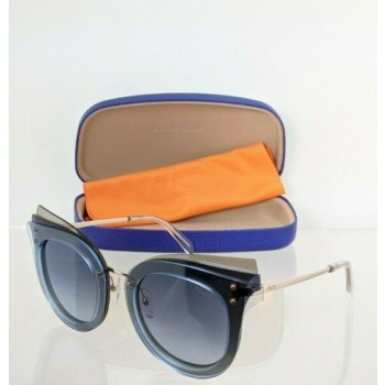 Brand New Authentic Emilio Pucci Sunglasses EP 104 92W Blue Frame EP104 66mm