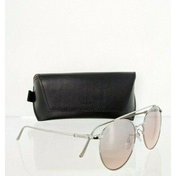 Brand New Authentic Bally Sunglasses BY 0042 16Z BY0042-D 56mm Silver Frame