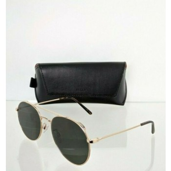 Brand New Authentic Bally Sunglasses BY 0011 30E BY0011-H  57mm Gold Frame