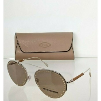 Brand New Authentic Tod's Sunglasses TO 234 28E 60mm Silver Frame TO234