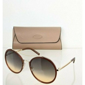 Brand New Authentic Tod's Sunglasses TO 238 53B 57mm Brown Frame TO238