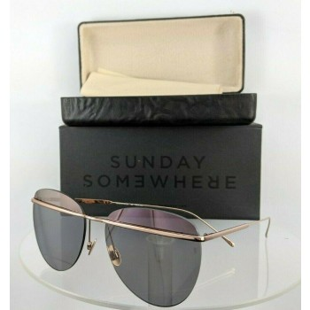 Sunday Somewhere Tallulah-Mus Rose Gold Sunglasses