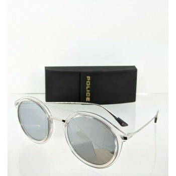 Police Hunger 1 SPL 724 880X Clear & Silver Sunglasses