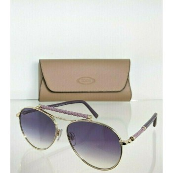 Tod's TO203 33Z Violet/Purple & Gold Sunglasses