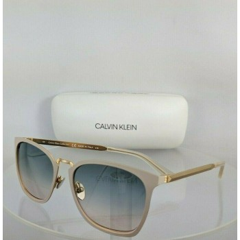 Calvin Klein CK 8029S 101 White/Gold Sunglasses