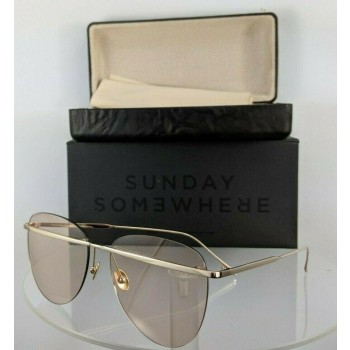 Sunday Somewhere Tallulah-Wgo Gold Sunglasses