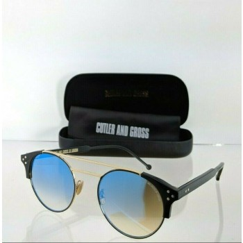 Cutler And Gross London 1271 07 Black and Gold Sunglasses