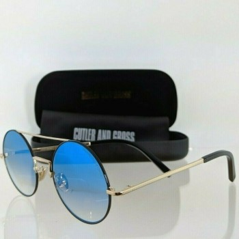 Cutler And Gross London 1276 07 Black and Gold Sunglasses
