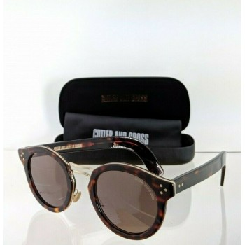 Cutler And Gross London 1282 02 Tortoise & Gold Sunglasses