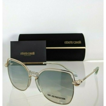 Roberto Cavalli MONTALE RC 1083 32Q Green & Gold Sunglasses