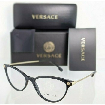 Versace VE 3261 GB1 Black & Gold Eyeglasses