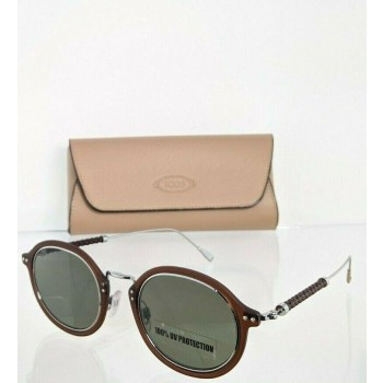 Tod's TO217 46N Brown Silver Sunglasses