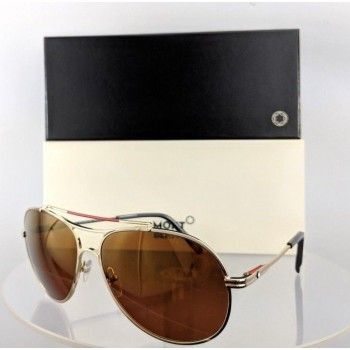 Mont Blanc MB 703S 32H Gold Sunglasses