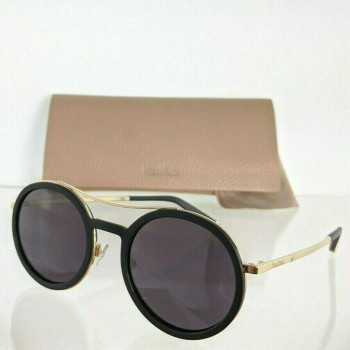 MaxMara MM OBLO V24EU Black & Gold Sunglasses