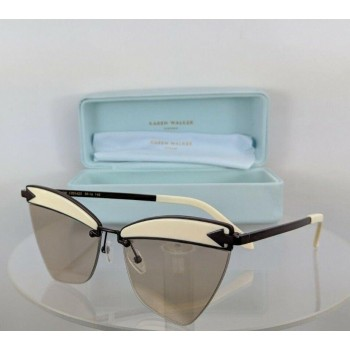 Karen Walker Sadie White/Dark Brown Sunglasses