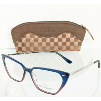 Amarcord 12AM053 Col. 1 Blue & Pink Eyeglasses