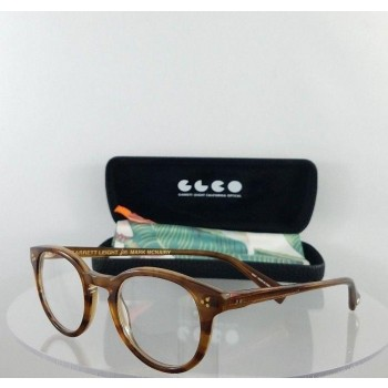 Garrett Leight X Mark McNairy Monroe ECH Brown Eyeglasses