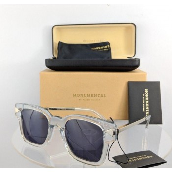 Karen Walker MONUMENTAL JULIUS Silver Clear Sunglasses