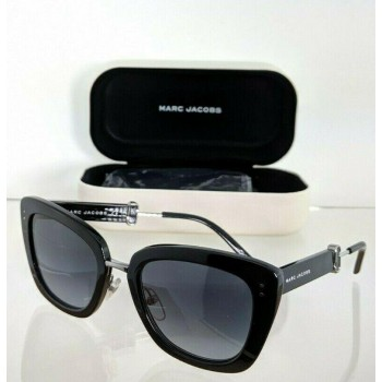 Marc Jacobs 131/S 807HD Black Silver Sunglasses