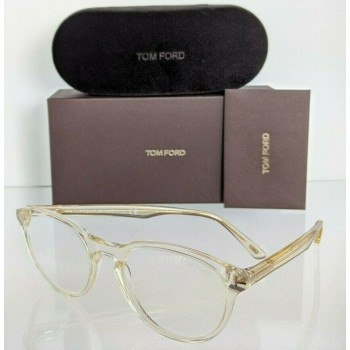 Tom Ford FT 5556 039 Clear & Gold Eyeglasses
