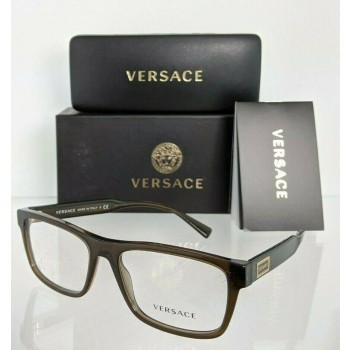 Versace VE 3277 200 Transparent Olive Green Eyeglasses - 55mm