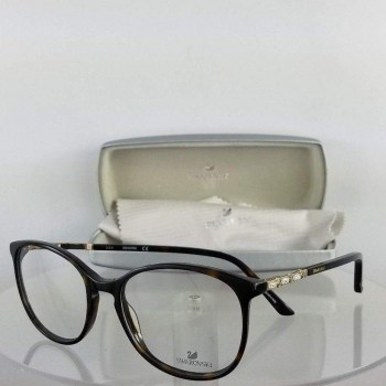 Swarovski SW5163 52 Brown/Gold Eyeglasses