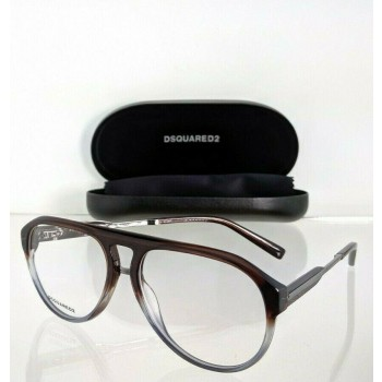 Dsquared 2 DQ 5242 050 Brown & Grey & Silver Eyeglasses