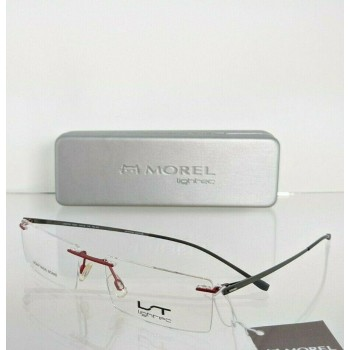 Lightec 7222L RG 052 Gray & Red Eyeglasses