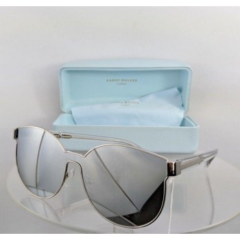 Karen Walker Star Sailor Silver/Clear Sunglasses