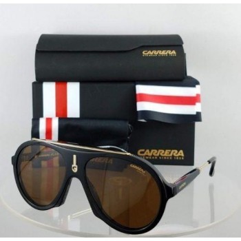 Carrera FLAG 80770 Black/Gold Sunglasses