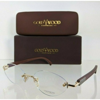 Gold And Wood SJ24.6-Ac50 Brown & Gold Eyeglasses