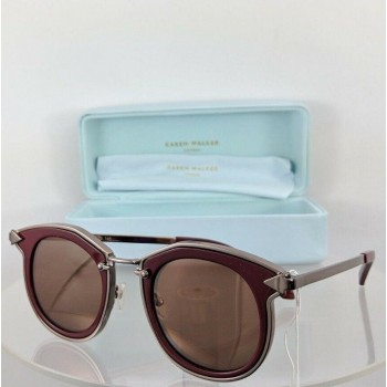 Karen Walker Bounty Burgundy & Sliver Sunglasses