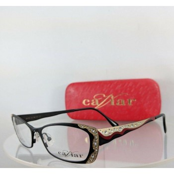 Caviar M 1772 C4 Gold Black Eyeglasses