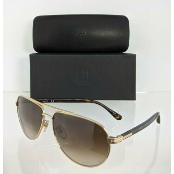 Dunhill SDH015 0349 Gold & Brown Sunglasses