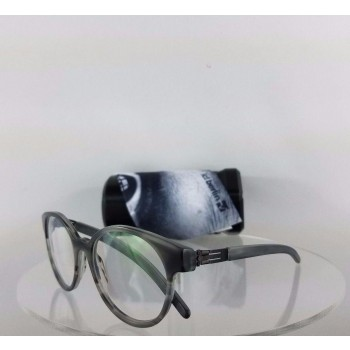 ic! Berlin Julia S Black Grey Eyeglasses
