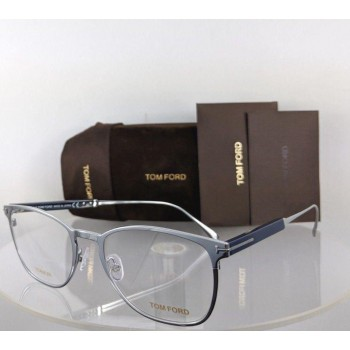 Tom Ford FT 5483 018 Silver Navy Eyeglasses