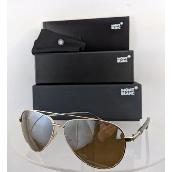 Mont Blanc MB 702S 32L Gold & Black Sunglasses