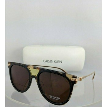 Calvin Klein CK 18703S 245 Tortoise Black and Gold Sunglasses