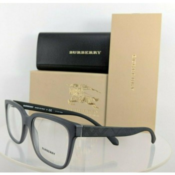 Burberry BE 2262F 3698 Matte Grey Black Eyeglasses
