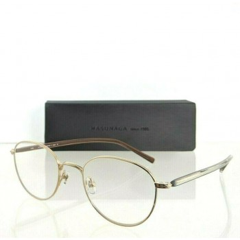 Masunaga GMS007-Gold Brown And Gold Eyeglasses