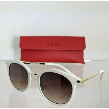 Guess GU7532 21F Gold & White Sunglasses