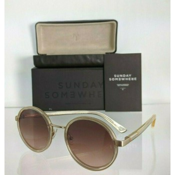 Sunday Somewhere NED 032 GRY Gold & Clear Sunglasses