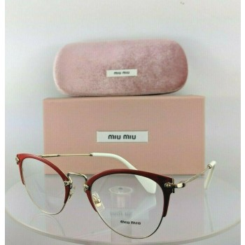 Miu Miu Vmu 50Q Vyi-1O1 Red Gold Eyeglasses